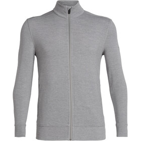Icebreaker Momentum LS Zip Jacket Herr fossil/snow heather
